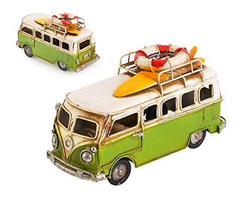 DSstyles-63-Inches-Retro-Metal-Classic-T1-Camper-Van-Beach-Bus-Toy-Model-Green