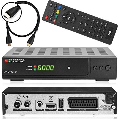 Preisvergleich Produktbild Xaiox Anadol 111c digitaler Full HD Kabel-Receiver [Umstieg Analog auf Digital] inkl HDMI Kabel (HDTV,  DVB-C / C2,  HDMI,  Chinch-Video,  Mediaplayer,  USB,  1080p) [automatische Installation] - schwarz