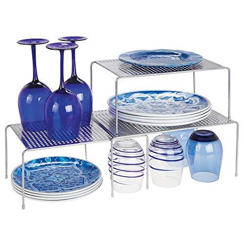 mDesign Juego de 3 estanterías metálicas para armarios de cocina – Práctica...