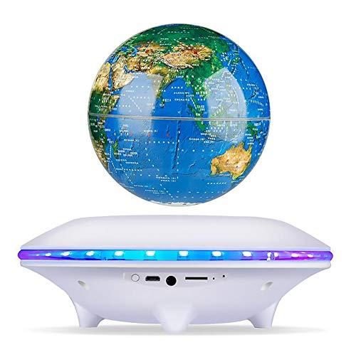 BUY-TO Drahtlose Lautsprecher Schwimmende 3D Erde Tragbarer Bluetooth-Player Weihnachten Geburtstagsgeschenk für Kinder,White