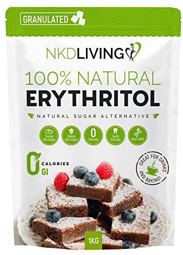El eritritol es la alternativa natural perfecta al azúcar con CERO calorías. Con el 70 % del poder endulzante del azúcar, tiene casi todo el sabor sin ninguna culpa y puedes finalmente sustituir el azúcar en tu cocina ¡SIN echar a perder tus recetas!...