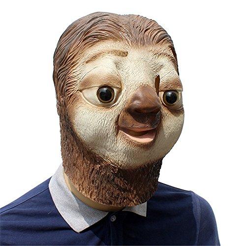 HBWJSH Faules Gesicht des Latextieres stellte Halloween-lustige Tierlatex-Perückepartei ein Halloween