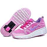 Zapatillas con ruedas automáticas para niños - Mod. 509 - Rosa - Varias tallas