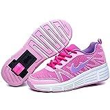 Zapatillas para niñas. con Ruedas automáticas retráctiles. Rosa-Morado. Talla...