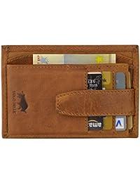 Solo Pelle Vintage Geldbörse aus echtem Leder Model: 5086 Slimfit, Vintage Braun