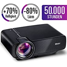 Mini proyector, RAGU Z400 Full HD 1080P Portátil LED Entretenimiento en Casa Proyector Para PC Portátil PS4 XBOX Teléfonos Inteligentes Película Fiesta Juego HDMI / USB / AV / TV / SD