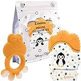 Liname Baby Handschuh Zahnen Fäustlinge mit Beißring - Safe (BPA frei),...