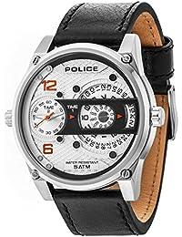 Police Reloj Analógico para Hombre de Cuarzo con Correa en Cuero PL14835JS.04