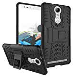 Chevron Hybrid Military Grade Armor Kick Stand Back Cover Case for Lenovo K5 Note (Black)
