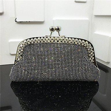 Frauen elegante Hochwertige Diamanten Abend Tasche Silver