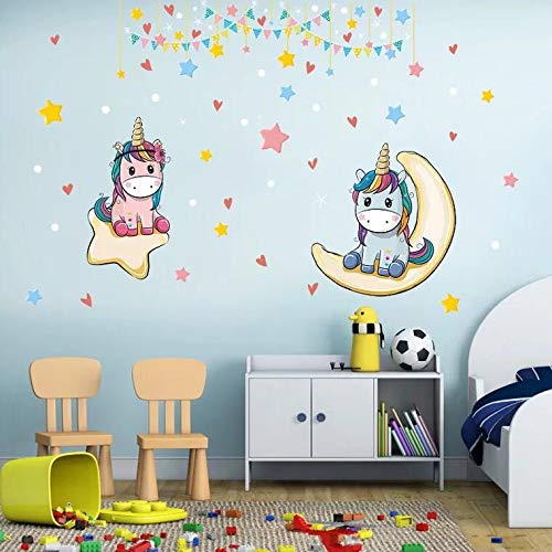 Zoom IMG-2 kibi adesivi muro unicorno arcobaleno