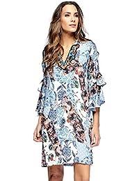 Niza - Vestido Estampado Floral Patchwork