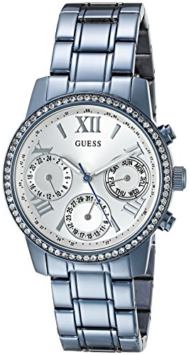 GUESS Women's U0623L4 Iconic Sky Blue Watch Multi-Function
