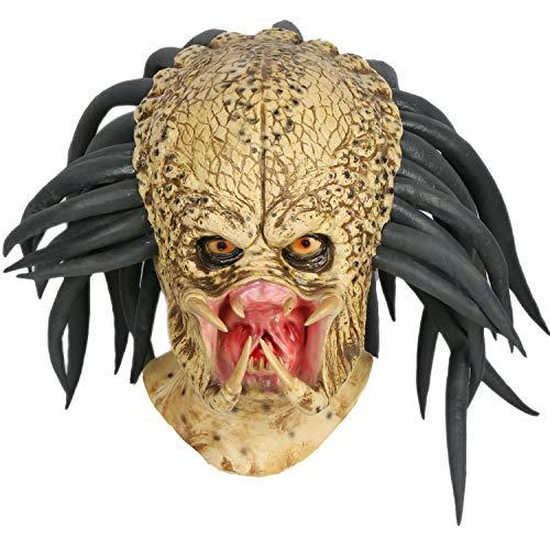 Zubehör Kostüm Predator - Mesky Cosplay Maske Halloween Maske Latexmaske aus Predator Bronze Erwachsene Masken Film Zubehör für Karneval, Fasching und Party