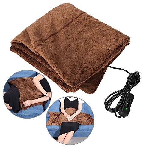 Elektrisch beheizte Decke, USB-Heizdecke Premium Super Soft Flanell Winter Warm Heizung Matratze Heimauflage Digital Control Comfort Underblanket(45 * 60cm)