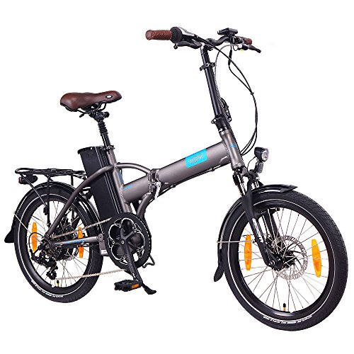 NCM London 20 Zoll E-Bike,E-Faltrad,36V 15Ah 540Wh Akku,250W Bafang Heckmotor,mechanische Scheibenbremsen