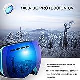 lineamenti:  - Migliori prestazioni anti-nebbia di lunga durata - Migliori prestazioni anti-graffio - Protezione 100% UV400 - Doppio-Lens - Casco migliore compatibile con cinturino antiscivolo - OTG ( sopra gli occhiali ) Design - Lente senza...
