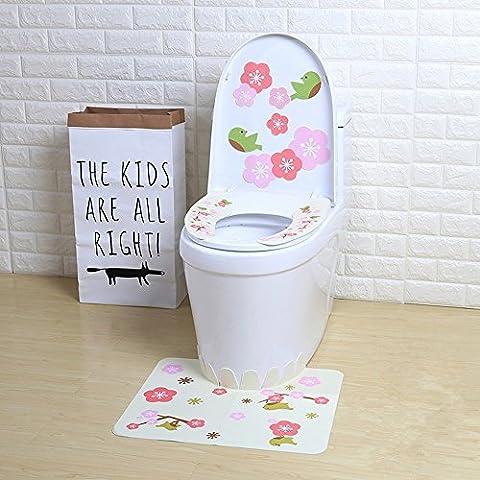 WC Cuhsion Drei Stücke Sets Wasserdichte Universal Toiletten Sets, A