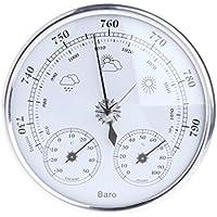 Lunji 3en 1barómetro termómetro higrómetro estación meteorológica inalámbrica, Plata