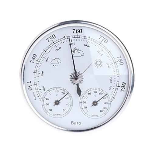 Mentin 3en 1Multiuso metereológica estación Barómetro termómetro Higrómetro de Pared ahorcamiento...