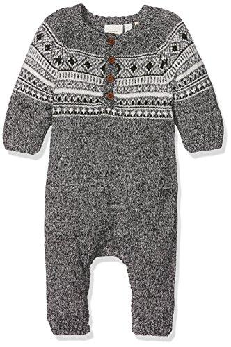 NAME IT Baby-Mädchen Spieler Nitmalthe Knit LS Suit Mznb, Schwarz (Black), 62