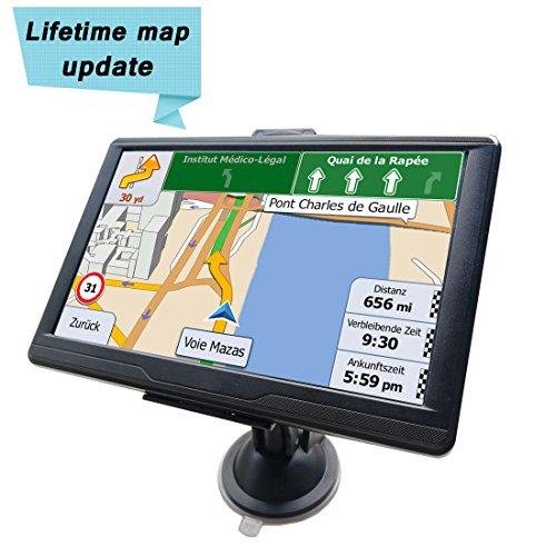 Navigationsgeräte Auto-GPS-Navigation 7 Zoll 8GB 256 RAM LKW PKW mit kapazitivem Touchscreen Fügen Sie EU 2018 Karten hinzu und lebenslange kostenlose Updates