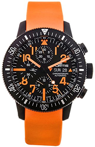 Limited Edition Fortis B-42 Black Mars 500 Automatic Chrono Mens Watch Calendar 638.28.13.SI.19