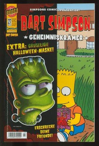 Bart Simpson Comics #27 mit Extra- Beilage: Halloween- Horror- Maske (2006, Panini)