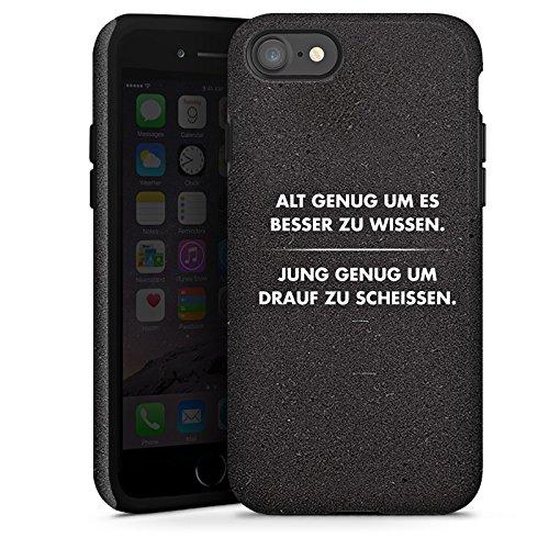 Apple iPhone 7 Hülle Case Handyhülle Sprüche Statement Schwarz Tough Case glänzend