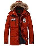 Herren Winterjacke Daunenjacke Funktionsjacke Wasserdicht Regenjacke Trekkingjacke Wanderjacke Softs (DE/EU XL, Rot)