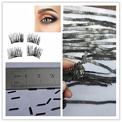FEITONG NEW Reusable-Magnet-Sheet-For-3D-Magnetic-False-Eyelashes-Extension-Handmade (50Pcs, Black)