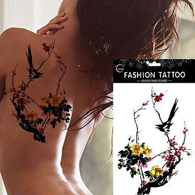 hjlhyl-5pcs-impermable-leau-couleur-prune-magpie-motif-de-tatouage-art-corporel-temporaire-autocolla