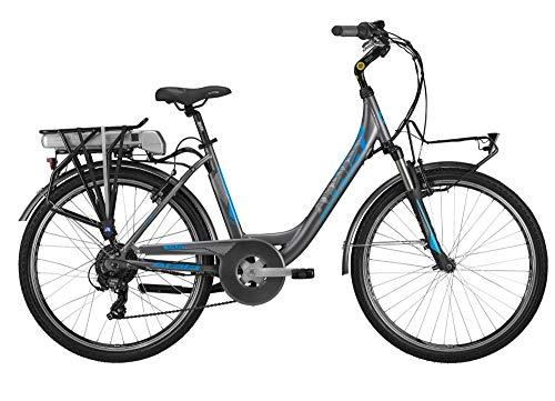 ATALA Modello 2019 Bici elettrica E-Run FS 26 6 velocità Motore Ecologico 418wh Colore antrcite - Blu Misura Unica 45