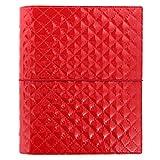 Filofax Domino Luxe A5 Rouge Classeur 30mm Agenda ORDRE DU JOUR insérer 027985