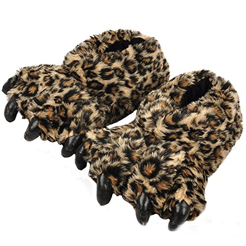 AIZHEAnimal Slippers - Pantofole uomo donna Leopard