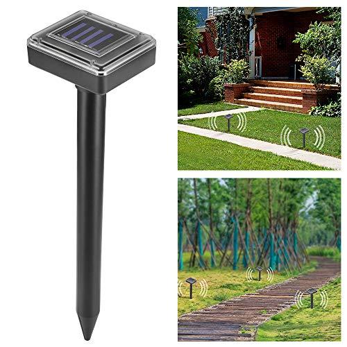 OurLeeme ultrasónico energía Solar Repelente de Serpientes de ratón para el jardín...