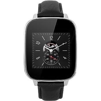 "Zeblaze Crystal - Smartwatch (Pantalla 1.54"", Bluetooth V4.0, resolución 240 x 240, Sincronización de llamadas, SMS, Música) para Smartphone de Android/iOS, Negro"
