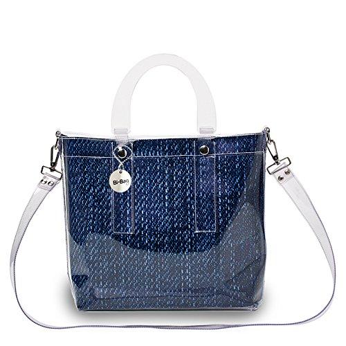 BI-BAG borsa donna modello DAILY VINTAGE + pochette Blu