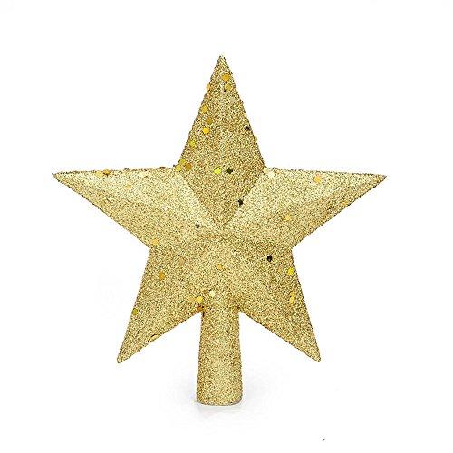 Christmas Tree Decorations Gold Glitter Tree Top Star Tree Top Decoration