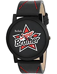 RELISH RE-S8089BB Black Slim Analog Watches For Boys And Mens