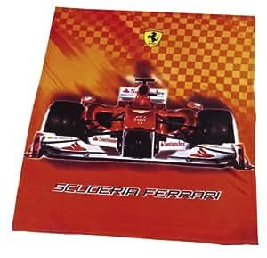 Global Labels G 10900F30100Ferrari Race Plaid Polaire 130x 170cm
