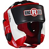 Ringside Ultra Light Sparring Headgear, Red/Black,...