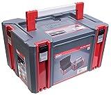 Connex COX566202 Systembox Aufbewahrungsboxen, Grau/Rot, L