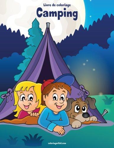 Livre de coloriage Camping 1 par Nick Snels