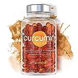 Curcumin with Vitamin D - Tumeric Superfood Supplement - Powerful 500 Strength - 60 Vegetarian Curcumin Vitamin D Liquid Capsules by MaxMedix