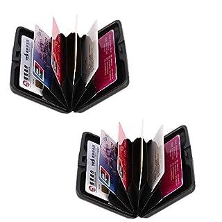 2 Pack RFID Scan Geschützt Aluminium Brieftasche Bank Kredit Karte Halter Hart Fall Sicherheit tragbar Reise