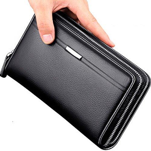 MEI Herren Business Handtasche Doppelgriff Tasche Große Kapazität Handtasche Black
