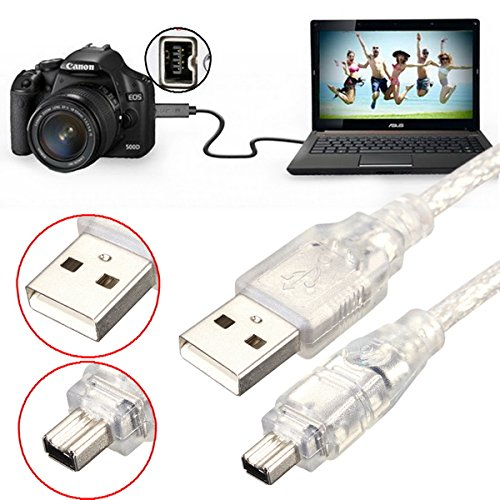 ILS. - 1.2M 4FT High Speed USB 2.0 Male to 4 Pin IEEE 1394 cavo Lead Extension Adattatore Converter