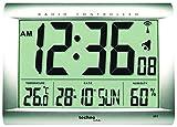 Technoline WS 8009 Radio-Controlled Clock Silver ( DCF-77 European atomic signal German version )