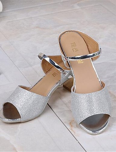 WSS 2016 Chaussures Femme-Décontracté-Argent / Or-Gros Talon-Talons-Chaussures à Talons-Polyuréthane golden-us7.5 / eu38 / uk5.5 / cn38